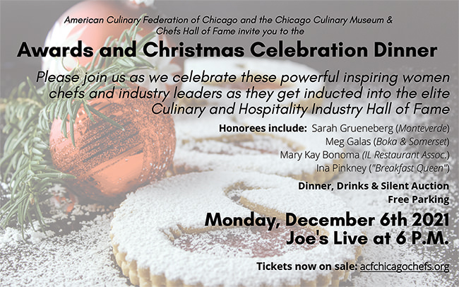 2021 Chef's Hall of Fame Event - Honoring Inspirational Women In The Hospitality Industry